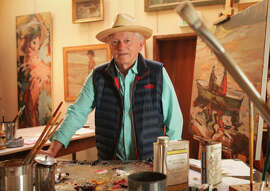Walter Georis is most at home creating in his studio.