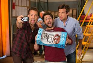 "From left, Jason Sudeikis as Kurt Buckman, Charlie Day as Dale Arbus and Jason Bateman as Nick Hendricks in New Line Cinema's comedy ""Horrible Bosses 2,"" a Warner Bros. Pictures release. (John P. Johnson/Warner Bros./TNS)"