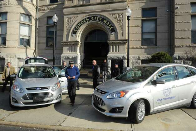 Cohoes Mayor George Primeau  announced the acquisition of 2 Ford C-Max Electric Cars to be assigned to code enforcement on Friday Nov. 21, 2014 in Cohoes, N.Y. (Michael P. Farrell/Times Union) Photo: Michael P. Farrell / 00029585A