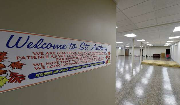 A temporary sanctuary will be set up in the basement at St. Anthony's Church Nov. 24, 2014 in Schenectady, N.Y. for Thanksgiving Day prayer.     (Skip Dickstein/Times Union) Photo: SKIP DICKSTEIN / 00029618A