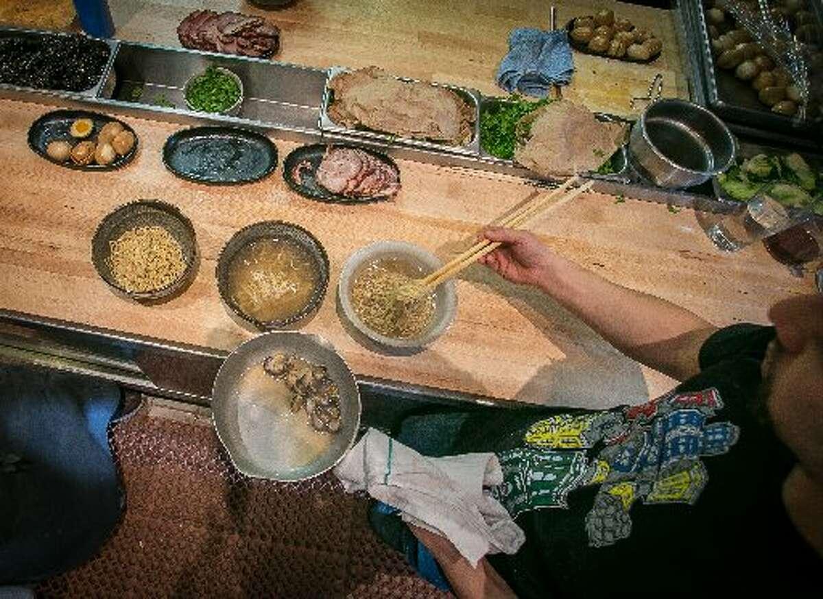 Ramen Shop, Oakland The restaurant serves three kinds of ramen that change nightly.