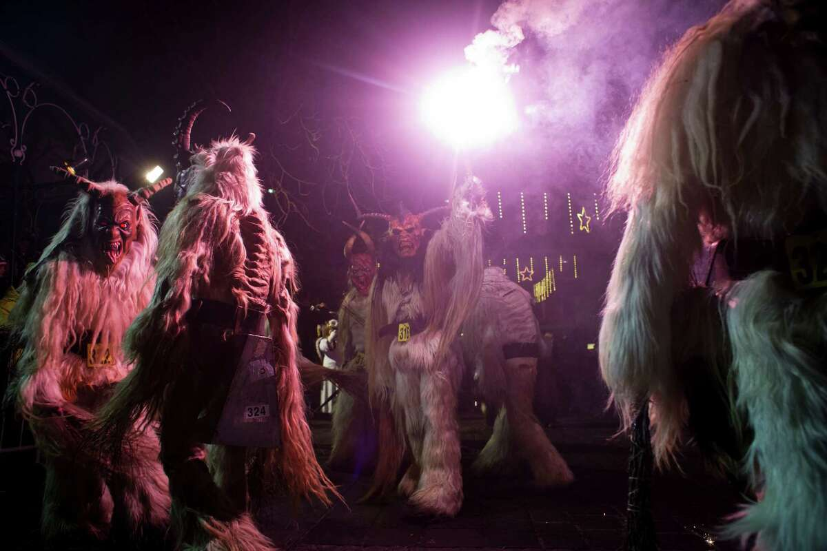 We really can't think of anything more terrifying than a nighttime parade of 900 Krampuses.