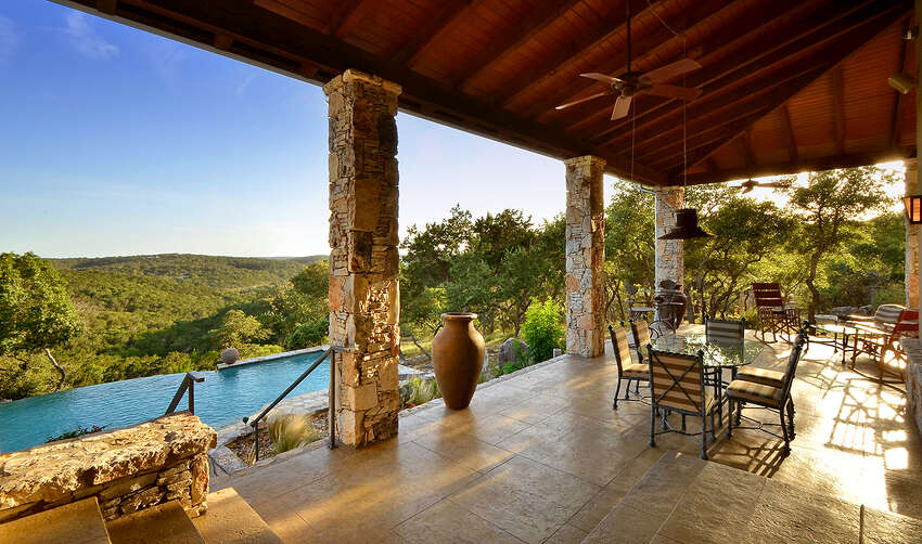 1224 River Mountain Ranch in Wimberley is up for sale at $2.8 million. The sprawling country home that sits on a 12.39 acre lot includes four to six bedrooms, 3 full bathrooms and an infinity pool among other features. Source:HAR.com