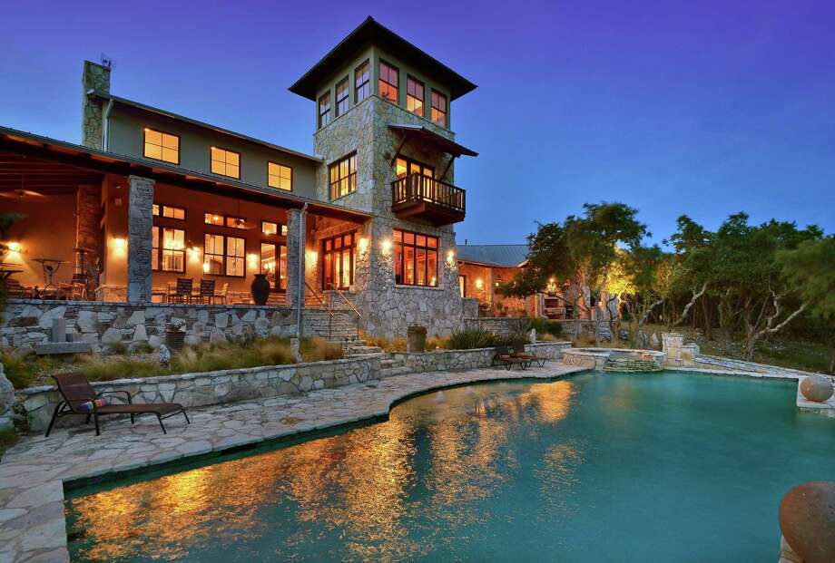 1224 River Mountain Ranch in Wimberley is up for sale at $2.8 million. The sprawling country home that sits on a 12.39 acre lot includes four to six bedrooms, 3 full bathrooms and an infinity pool among other features.Source: HAR.com Photo: Courtesy Of Broker,  Boyd & Boyd Properties,  LLC