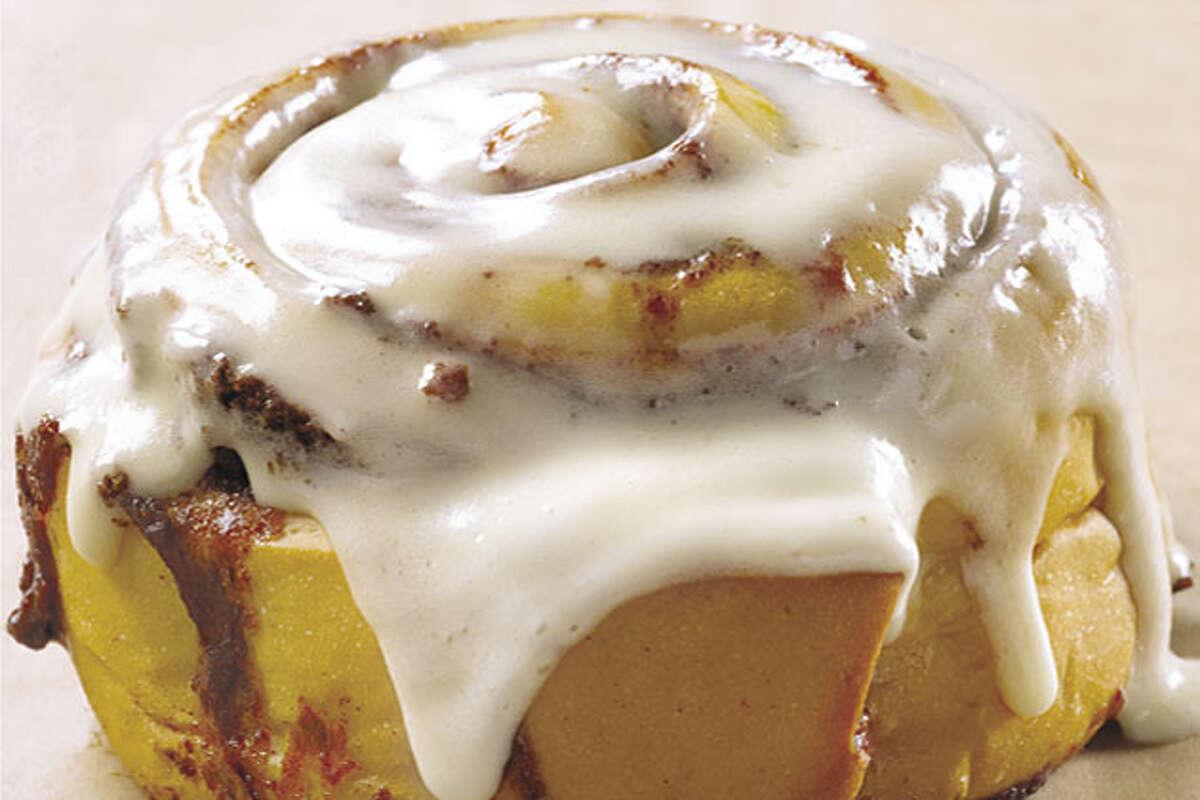 Cinnabon's classic cinnamon roll Calories: 880 Fat: 36 grams Sugar: 59 grams