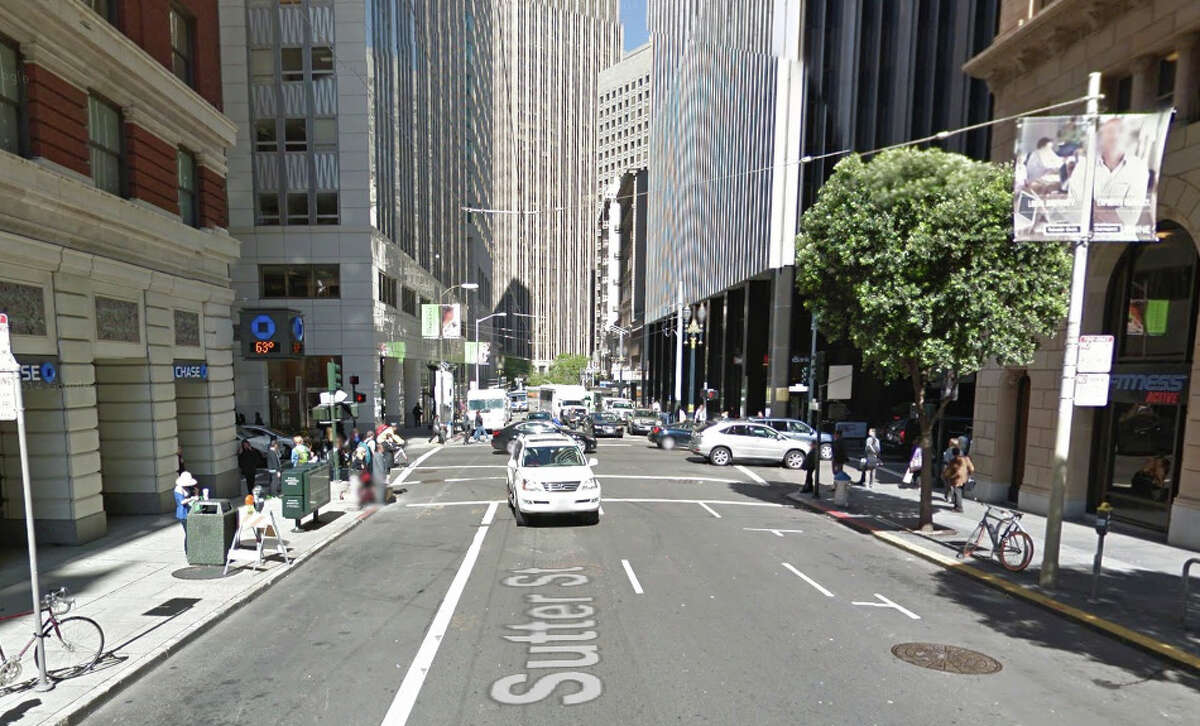 A homeless man who was found unresponsive in San Francisco's Financial District early Monday morning on the 100 block of Sutter Street.
