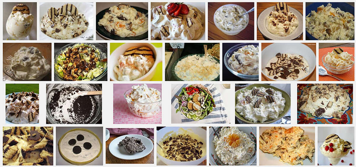 Cookie Salad: Most popular in North Dakota, but also in Minnesota. Recipe on allrecipes.com