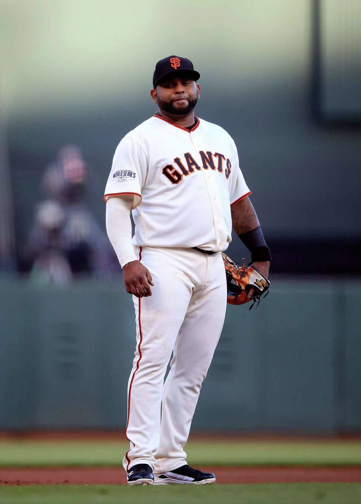 FILE - NOVEMBER 24: According to reports November 24, 2014, The Boston Red Sox will sign third baseman Pablo Sandoval. SAN FRANCISCO, CA - OCTOBER 24: Pablo Sandoval #48 of the San Francisco Giants stands in the field in the second inning while taking on Kansas City Royals during Game Three of the 2014 World Series at AT&T Park on October 24, 2014 in San Francisco, California. (Photo by Jamie Squire/Getty Images)