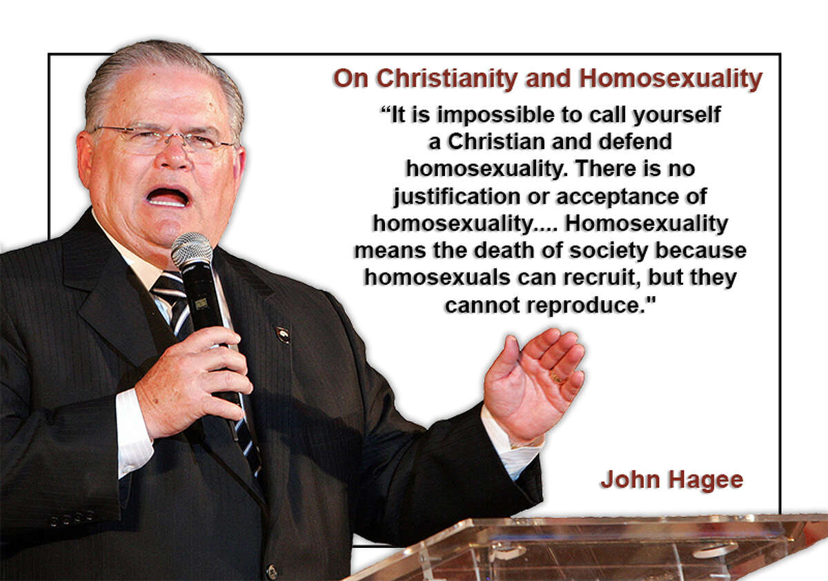 John Hagee, pastor at Cornerstone Church in San Antonio, has made several controversial remarks over the years. Scroll through for a sampling of his most tendentious statements.