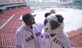 """""""The Panda is with me,"""" Pablo Sandoval said of his Giants nickname. """"He comes to Boston."""""""
