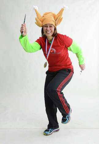 Deb Di Maggio poses for a Turkey Trot illustration Thursday, Nov. 20, 2014, in Colonie, N.Y. (Will Waldron/Times Union) Photo: WW / 00029554A