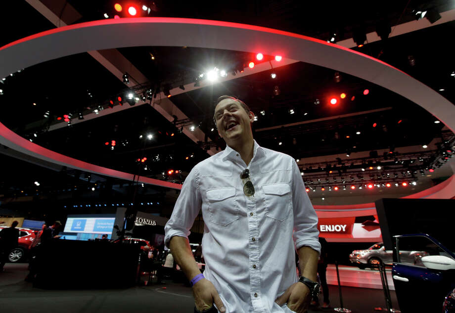 Chris Valasek, here at the Los Angeles Auto Show last week, is one of the people who helped catapult car hacking into the public eye. Photo: Chris Carlson / Associated Press / AP
