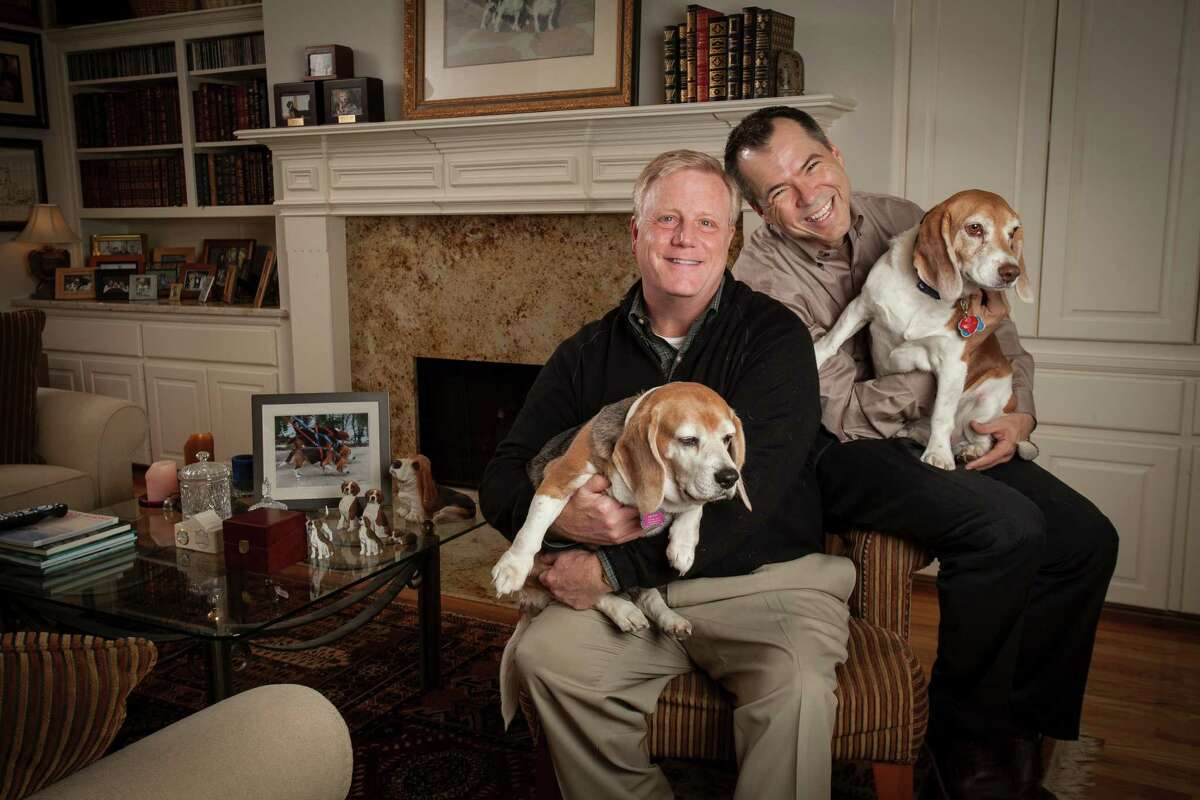 A new challenge - Jan. 9, 2015 Dallas residents Mark Phariss (left) and Victor Holmes are two of the plaintiffs in the current case challenging Texas' gay marriage ban. Oral arguments in their case are scheduled for Jan. 9, 2015.
