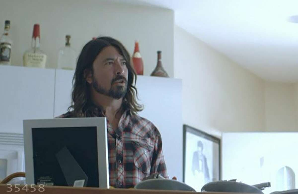 Dave Grohl in Robert Lang Studios, as depicted in