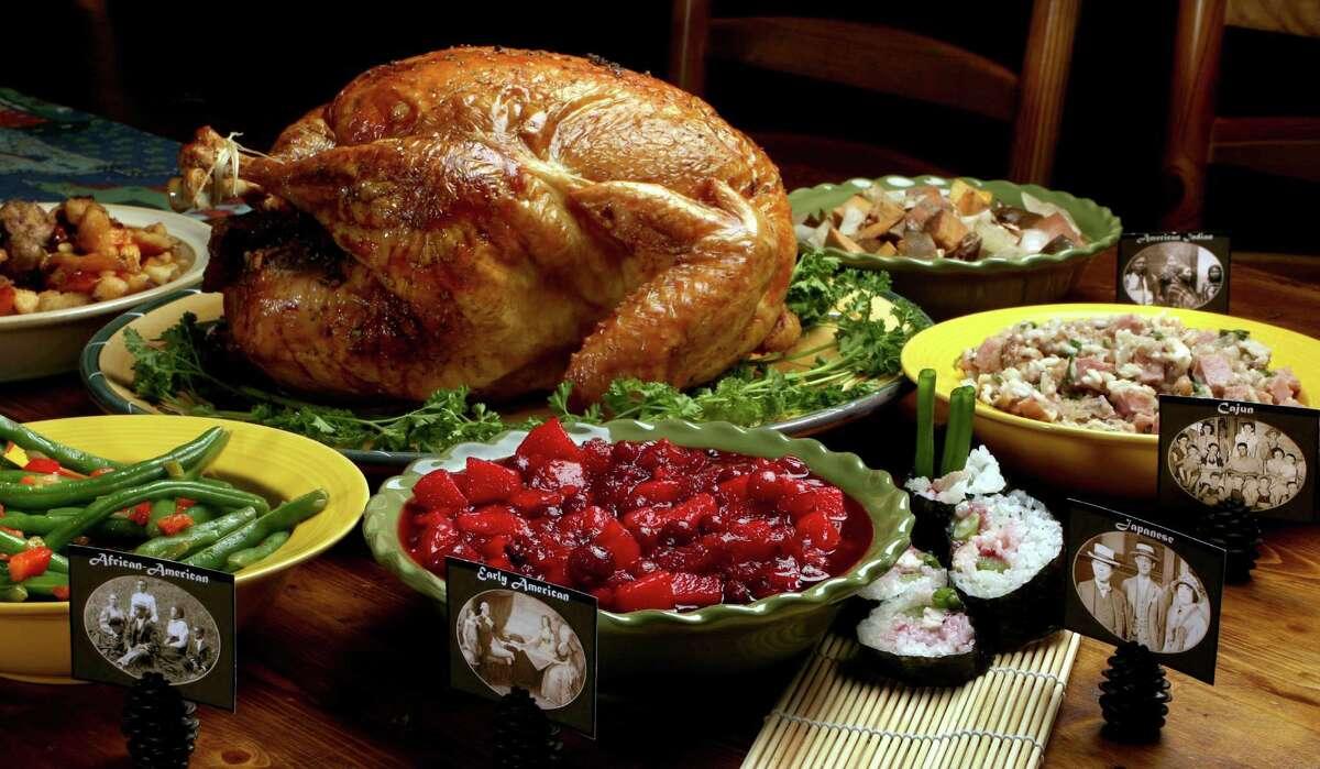 Turkey, sushi, cranberry chutney...