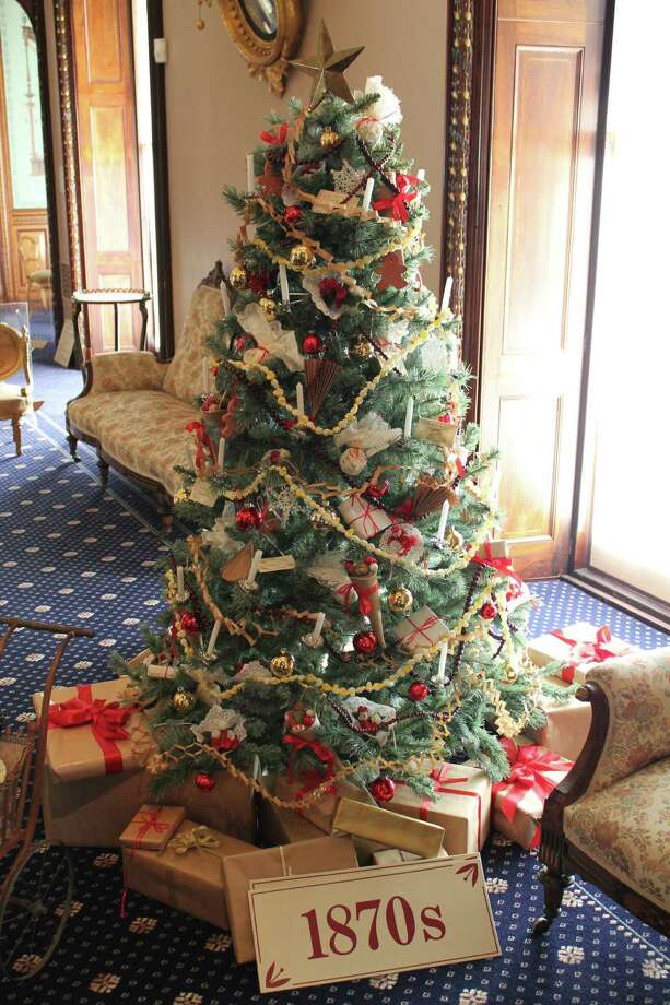 Christmas decorations in America began in earnest in the 1850s, when the concept of table-top trees were embraced by the growing middle class. This holiday season, Victorian holiday traditions will be the focus of events at the Lockwood-Mathews Mansion Museum, in Norwalk, above, and Bridgeport's Barnum Museum. Photo: Contributed Photo / Connecticut Post Contributed