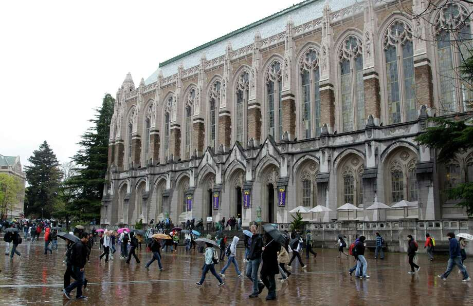 UW students and alumni should recognize this familiar sight of Suzzallo Library in the rain.  Photo: Ted S. Warren, AP / AP2011