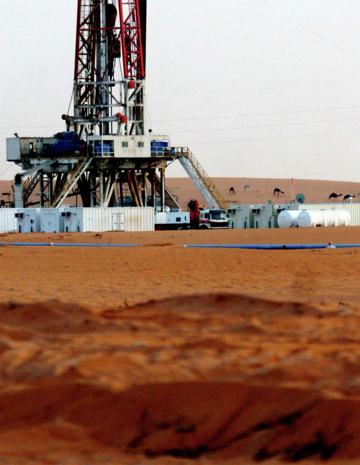 Saudi Arabia is OPEC's leading oil producer, pumping 9.6 million barrels per day last month from desert locations including the Khurais oil field about 60 miles southeast of Riyadh (AP Photo/Hasan Jamali)