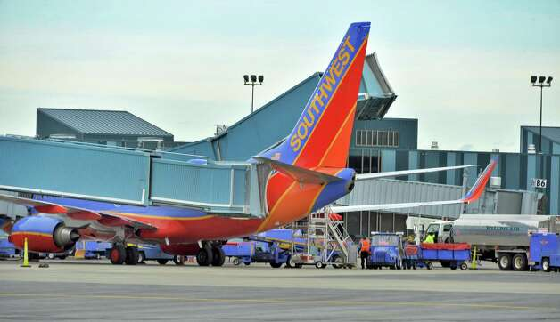 Planes at the Southwest gates at Albany International Airport Tuesday Nov. 25, 2014, in Colonie, NY.  (John Carl D'Annibale / Times Union) Photo: John Carl D'Annibale / 00029624A