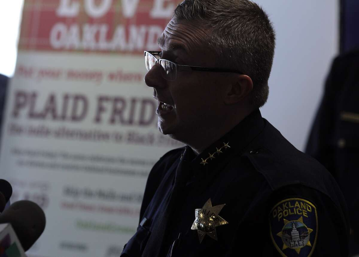 Oakland Police Chief Sean Whent answers questions from the press on Tuesday, the day after violent protests disrupted the city in the wake of the grand jury verdict in Ferguson, Mo. Oakland city officials spoke to the press about the local Ferguson protests overnight on Tuesday, November 25, 2014, at the Oakland, Calif, police headquarters.