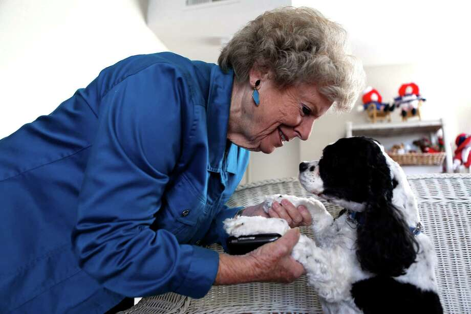 Betty Grant was displaced from her mobile home in the wake of the Napa earthquake this summer. Grant and her dog Penny are currently living in a temporary residence in Napa, Calif., on Tuesday, November 25, 2014. Photo: Scott Strazzante / The Chronicle / ONLINE_YES