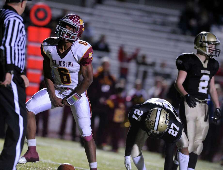 Rushed 22 times for 223 yards and 3 TDs in a 49-30 win over Trumbull.Pedersen caught 7 passes for 161 yards and 2 TDs. Also rushed for 66 yards and 1 score. Photo: Autumn Driscoll / Connecticut Post