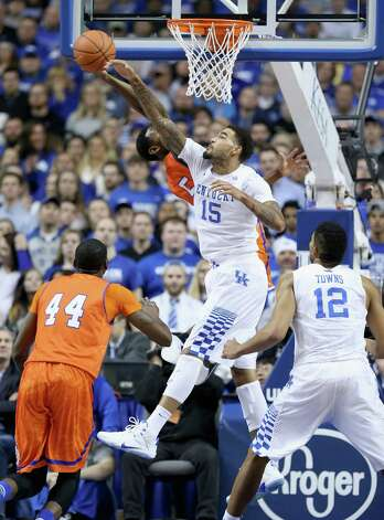 LEXINGTON, KY - NOVEMBER 25:  Willie Cauley-Stein #15 of the Kentucky Wildcats during the game against the Texas-Arlington Mavericks at Rupp Arena on November 25, 2014 in Lexington, Kentucky.  (Photo by Andy Lyons/Getty Images) ORG XMIT: 519880387 Photo: Andy Lyons / 2014 Getty Images