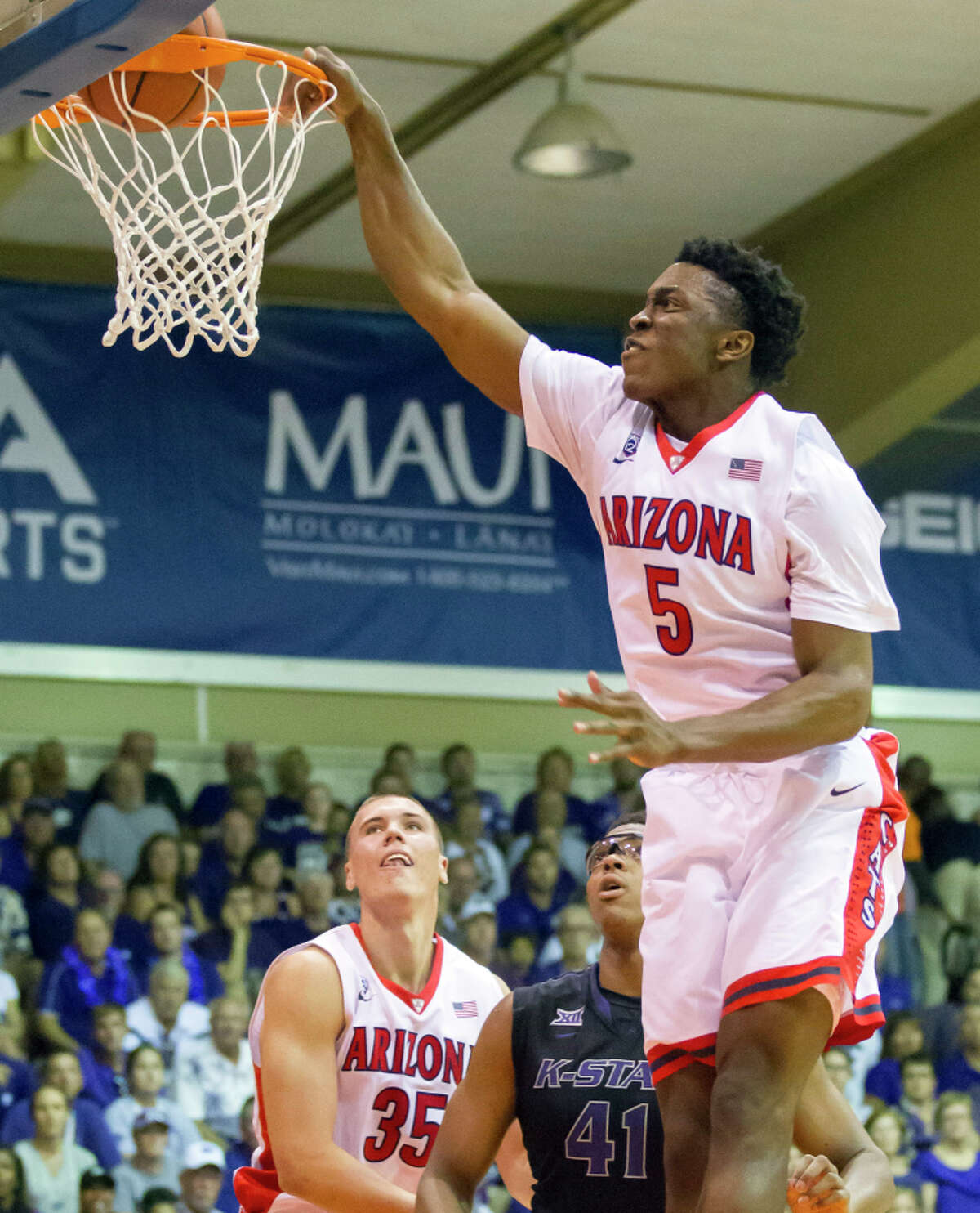 Freshman forward Stanley Johnson rises to the occasion in Arizona's win over Kansas State.