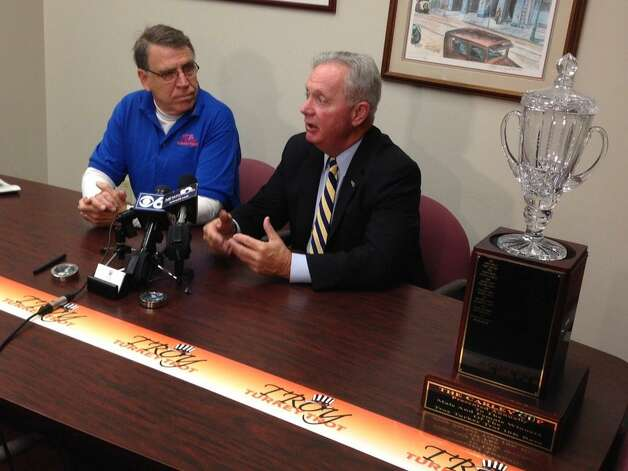 Troy's Deputy Mayor Pete Ryan says as of Wednesday morning, Nov. 26, 2014, the Turkey Trot is still on. Any change will be announced at 6 a.m. Thursday. (Skip Dickstein/Times Union)
