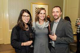 Dominique Baillet, Sally Jenkins Stevens and Alex MacIver at the San Francisco Education Fund's Annual Back to School Gala on November 20, 2014.