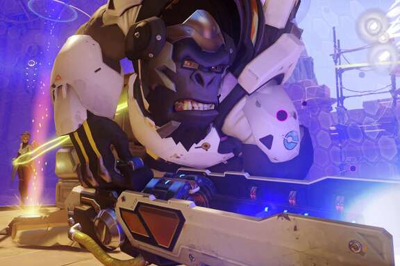 """Overwatch"" features characters and worlds that aren't often associated with shooter games."