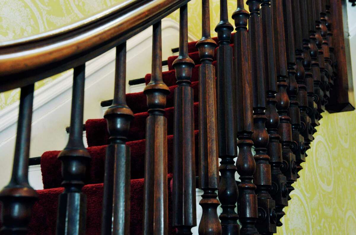 A view of the stairway balusters at 108 Circular St. on Wednesday, Nov. 12, 2014, in Saratoga Springs, N.Y. (Paul Buckowski / Times Union)