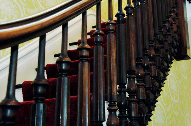 A view of the stairway balusters at 108 Circular  St. on Wednesday, Nov. 12, 2014, in Saratoga Springs, N.Y.  (Paul Buckowski / Times Union) Photo: Paul Buckowski / 00029396A
