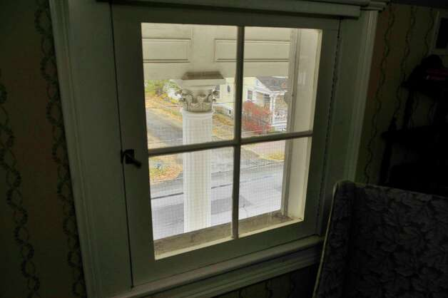 A view from the second story looking out of a window onto Circular St. from the home located at 108 Circular  St. on Wednesday, Nov. 12, 2014, in Saratoga Springs, N.Y.  (Paul Buckowski / Times Union) Photo: Paul Buckowski / 00029396A