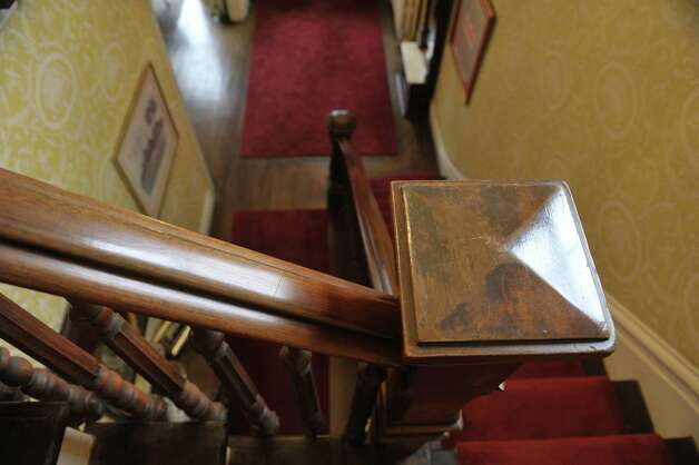 A view of the stairway banister and balusters at 108 Circular  St. on Wednesday, Nov. 12, 2014, in Saratoga Springs, N.Y.  (Paul Buckowski / Times Union) Photo: Paul Buckowski / 00029396A