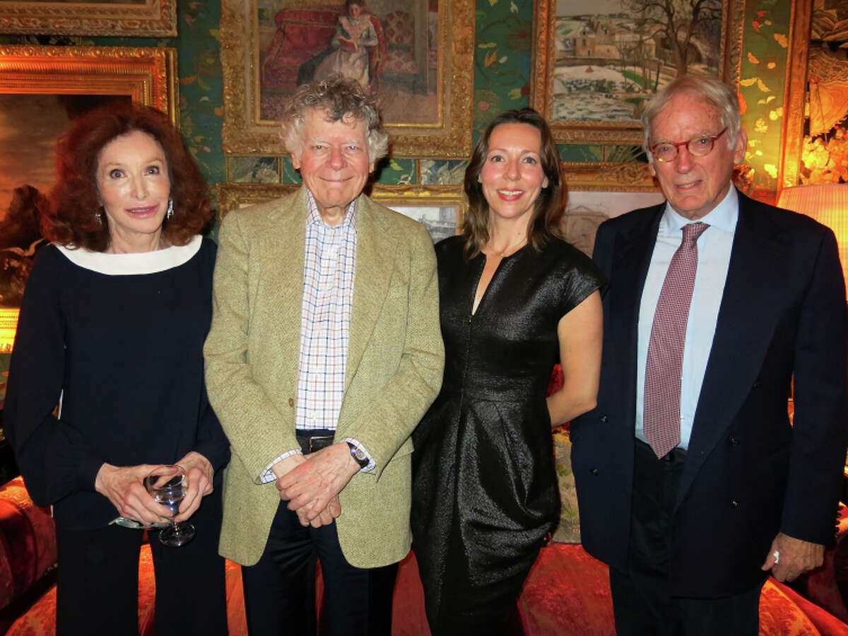 Ann and Gordon Getty (at left) with Chinati Executive Director Jenny Moore and J. Paul Getty Museum director emeritus John Walsh.