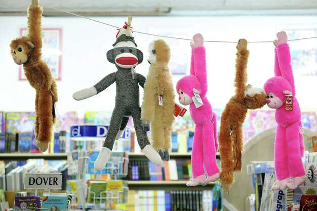 Stuffed animals hang from the rafters on Tuesday, Nov. 25, 2014, at I Love Books in Delmar, N.Y. (Cindy Schultz / Times Union) Photo: Cindy Schultz / 00029619A