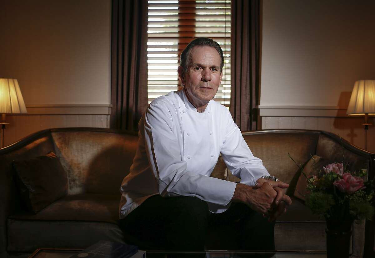 Chef Thomas Keller is seen in the foyer of The French Laundry on Wednesday, April 16, 2014 in Yountville, Calif.