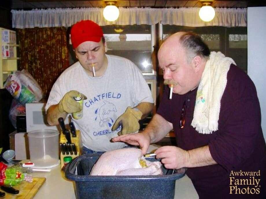 Smoked turkey: It tastes better this way. Photo: Awkward Family Photos