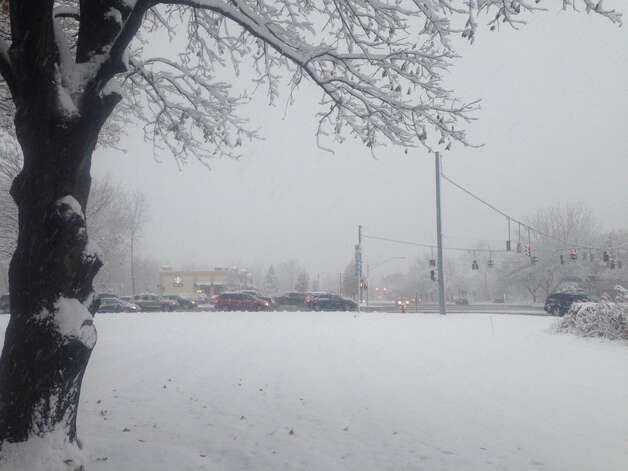 Looking out at Albany-Shaker and Wolf roads in Colonie at 4 p.m. Wednesday, Nov. 26, 2014. Photo: Michael Huber