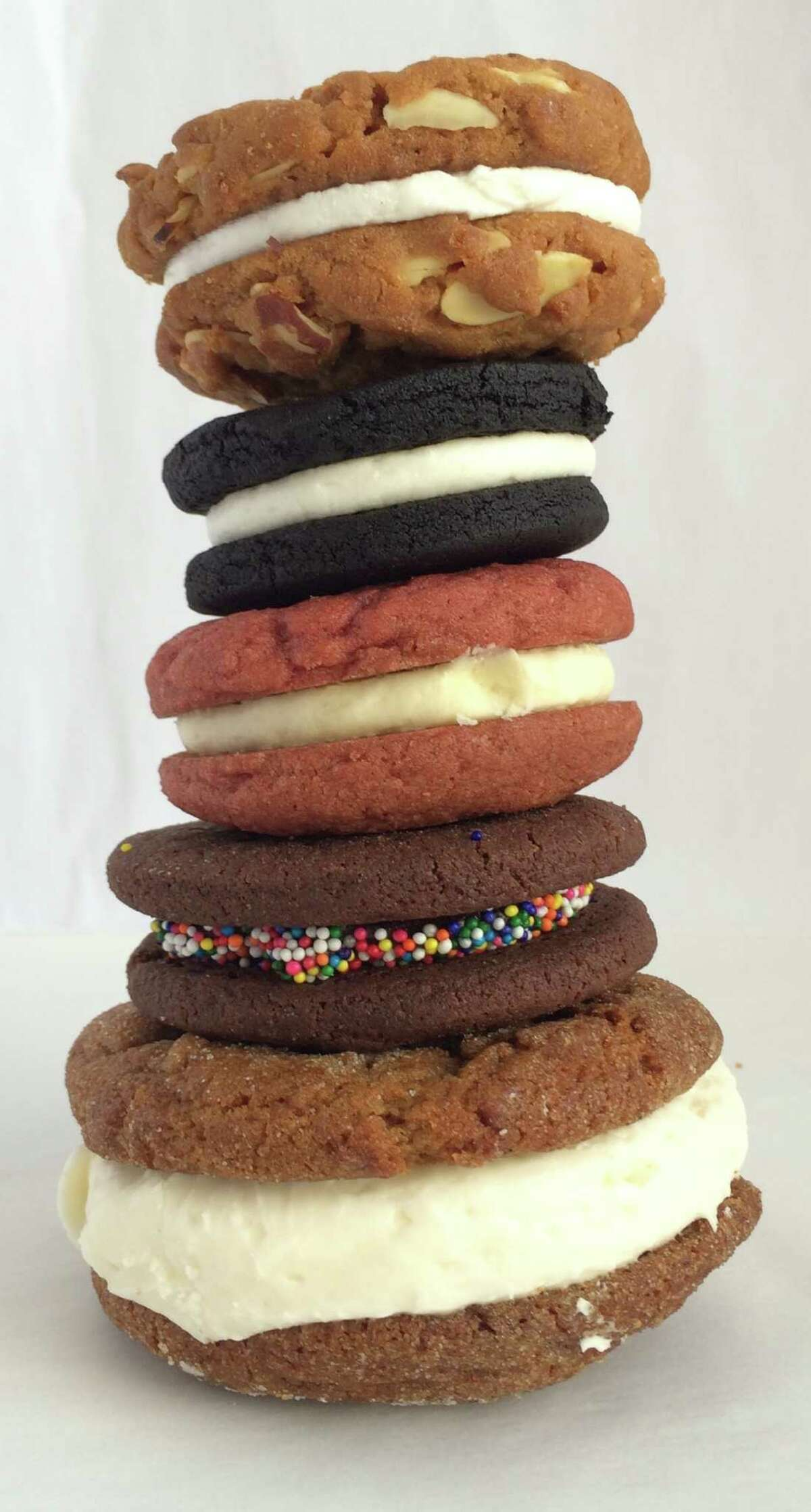 Assorted sandwich cookies from Pinkie's Bakery, Batter Bakery, Natty Cakes and Black Jet Bakery