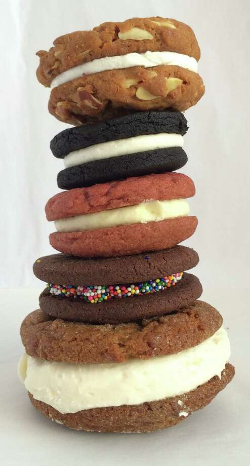 Assorted sandwich cookies from Pinkie's Bakery, Batter Bakery, Natty Cakes and Black Jet Bakery Photo: Sarah Fritsche / ONLINE_YES