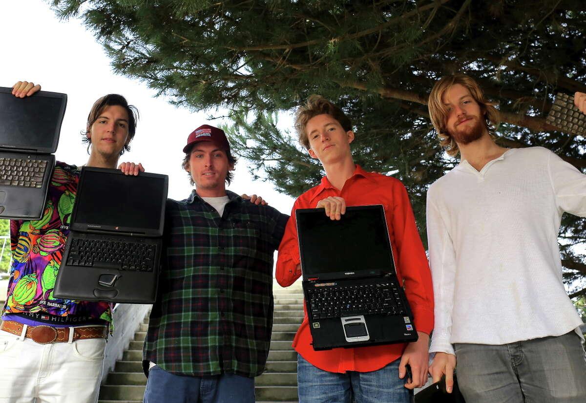 Hibbity Dibbity: Christopher Braun (left), Jack Gehegan, Tom Relling and Parker Simon.