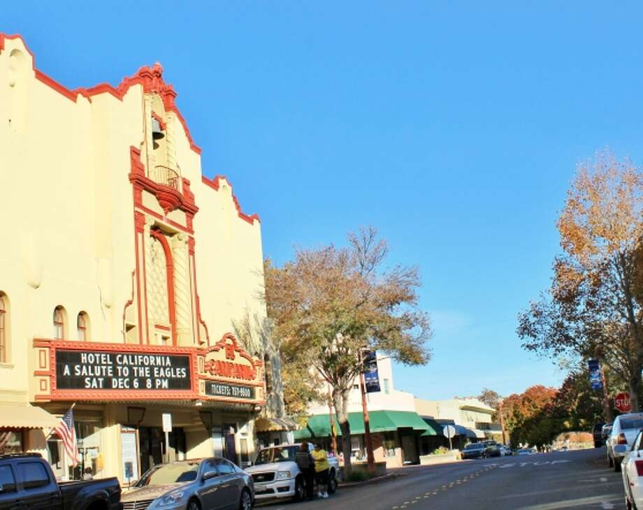 If you're feeling nostalgic, drop by the El Campanil Theatre, a 1928 movie theater that once had 1,110 seats and a vaudeville stage. It's new role is that of community performing arts center. Photo: Stephanie Wright Hession / Special To The Chronicle / ONLINE_YES