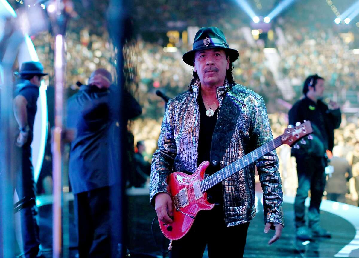 LAS VEGAS, NV - NOVEMBER 20: Musician Carlos Santana performs onstage during the 15th Annual Latin GRAMMY Awards at the MGM Grand Garden Arena on November 20, 2014 in Las Vegas, Nevada. (Photo by Christopher Polk/Getty Images for LARAS)