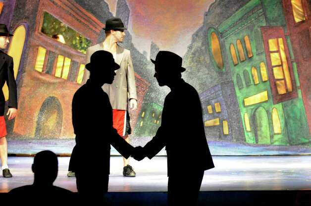 """Actors rehearse for the opening performance of """"Guys and Dolls"""" on Thursday, Aug. 2, 2012, at Cohoes Music Hall in Cohoes, N.Y. (Cindy Schultz / Times Union) Photo: Cindy Schultz / 00018710A"""