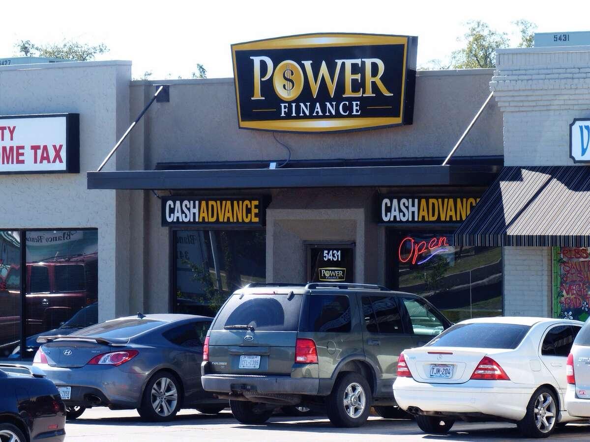 Power Finance cash advance at 5431 Blanco Road on Wednesday, Nov. 13, 2013.