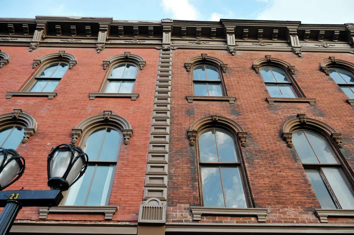 A view of two buildings on the Adam's block on Remsen St. on Tuesday, Nov. 18, 2014, in Cohoes, N.Y. (Paul Buckowski / Times Union)