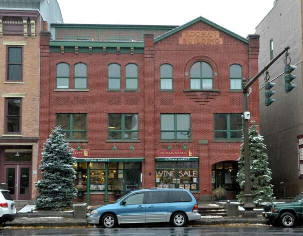 A view of the Roohan building located on  Broadway on Monday, Nov. 17, 2014, in Saratoga Springs, N.Y.   (Paul Buckowski / Times Union) Photo: Paul Buckowski / 00029485A