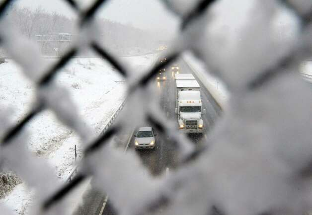 Traffic seen heading north on the 87 from exit 6 overpass on Wednesday Nov. 26, 2014 in Latham, N.Y. (Michael P. Farrell/Times Union) Photo: Michael P. Farrell / 00029647A